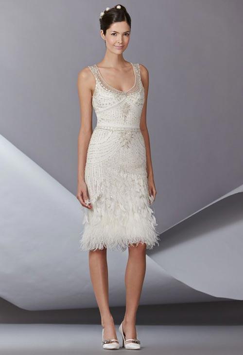 Những tuyệt phẩm váy ngắn cho cô dâu mùa hè - 15