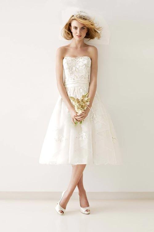 Những tuyệt phẩm váy ngắn cho cô dâu mùa hè - 3