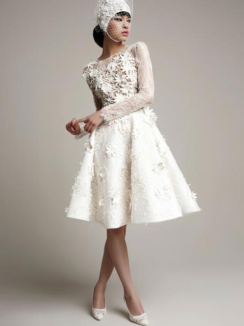 Những tuyệt phẩm váy ngắn cho cô dâu mùa hè - 5