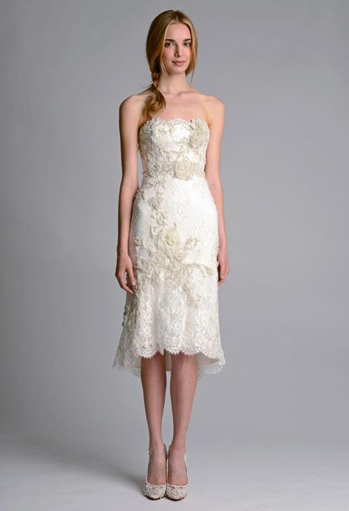 Những tuyệt phẩm váy ngắn cho cô dâu mùa hè - 20