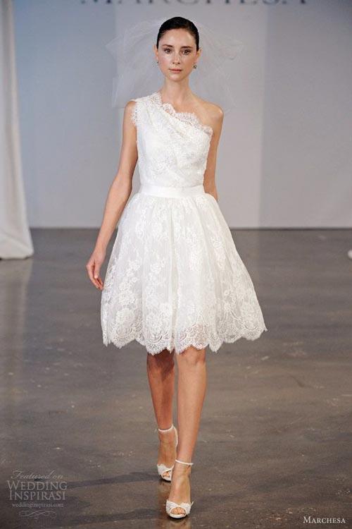 Những tuyệt phẩm váy ngắn cho cô dâu mùa hè - 9