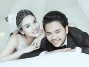Làng sao - Ảnh cưới lãng mạn của Trang Nhung và ông xã đại gia
